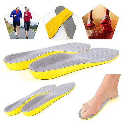 Ortopédicos espuma de memoria de Zapatos Almohadillas entrenador pie pies Confort talón Plantillas Unisex