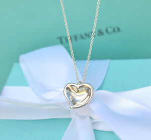 AUTHENTIC-Tiffany-amp-Co-Carved-Heart-Necklace-16-034-359