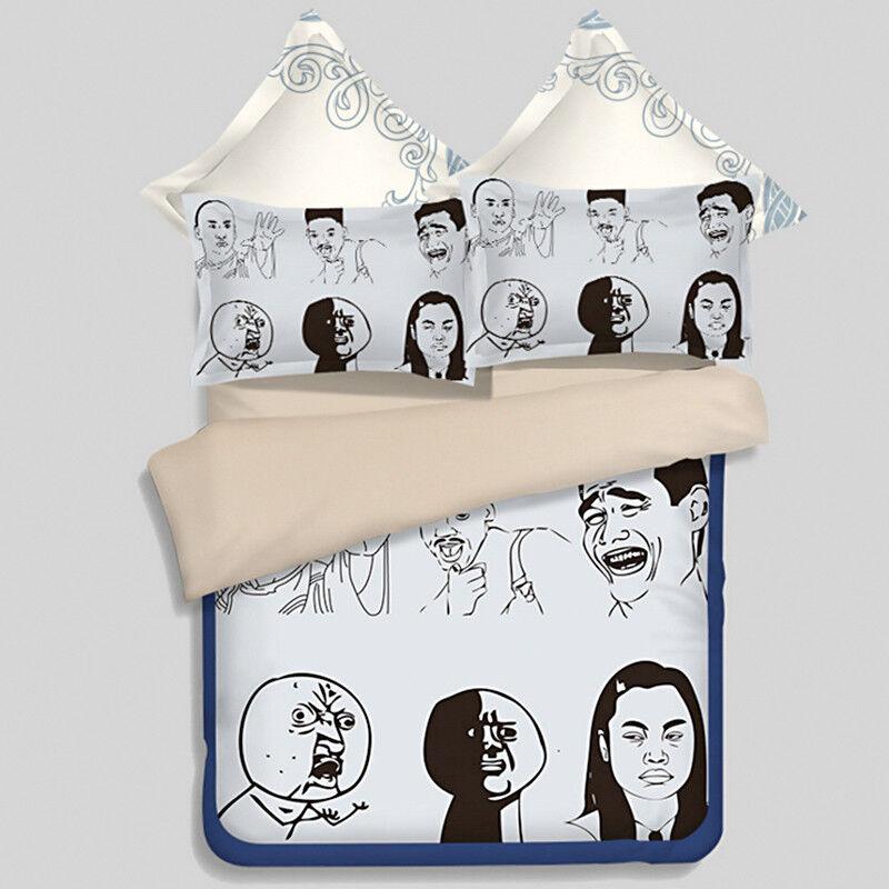3D Comic Portraits 99 Bed Pillowcases Quilt Duvet Cover Set Single Queen King CA