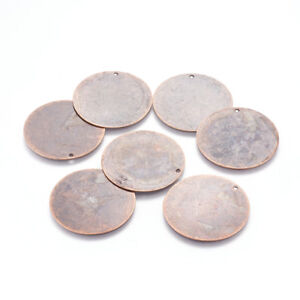 10pcs Stainless Steel Oval Charms Tags Stamping Blanks Coins Findings Crafts