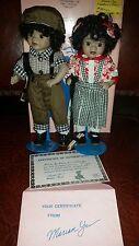 """MARIAN YU Designs, MYD """"William & Tasha"""" Dolls African American Twins COA dolls"""