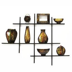 Contemporary Metal Wall Art Picture Or Sculpture – Shelf Scene