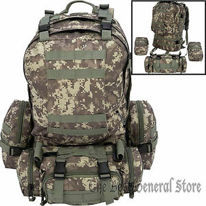 Image Is Loading 4pc Day Pack Digital Camo Backpack Survival Gear