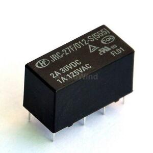 5PCS-Signal-Relays-12V-0-2W-2-form-C-DPDT-120V-1A