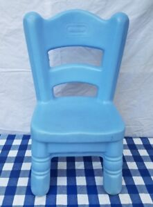Child Size Little Tikes Victorian Kitchen Plastic Blue Chair Toys Hobbies