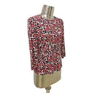 Barbara Lebek NEW Red Top T-Shirt Blouse Tunic UK 12 (EU 40) Women's RRP £35