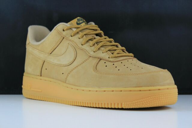 e068bb693fb Nike Men's Air Force 1 Low Flax Gum Light Brown Wheat Aa4061 200 Size 9.5
