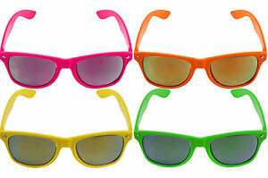 Neon Sunglasses Shades Hawaiian Beach BBQ Summer Beach 80s 90s Fancy Dress UV400