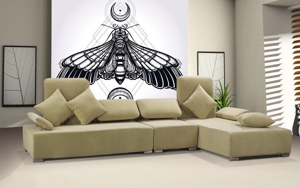 3D Große blacke motten  Fototapeten Wandbild Fototapete BildTapete Familie DE