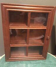Wood Curio Cabinet Shelf Rack Display 3 Shelf Wall Hanging Free Standing
