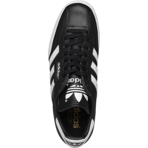 Adidas Samba Super Blanc/Noir Cuir Baskets Hommes Tailles