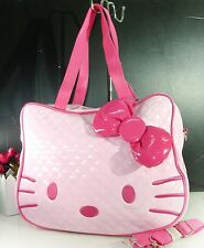 large big hello kitty face head light pink purse bag womens girls cute fashion