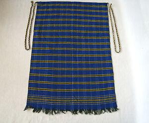 Vintage Hand - woven Traditional Balkan Ethnic folk Cloth Apron or motif - 10