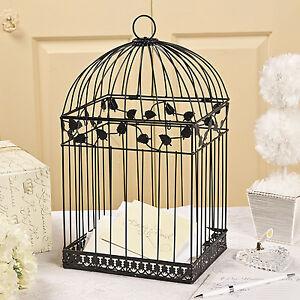 White Birdcage Wedding Gift Card Holder Wishing Well : BLACK-Birdcage-Money-Gift-Box-Wedding-Wishing-Well-Card-Box-Bridal ...