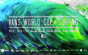 9d3551815c New Mint 2015 Vans World Cup Sunset Beach Hawaii Surfing Contest Art ...