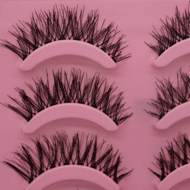 Fashion Makeup Black Good Charming Handmade 5 Pairs False Eyelashes Long Thick