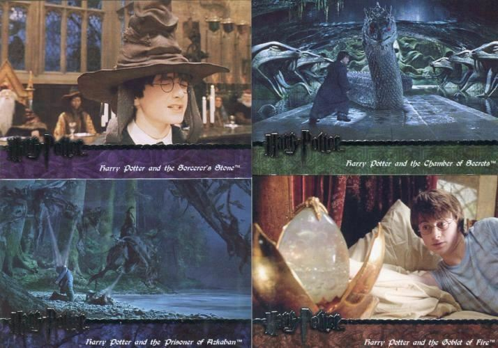 Harry Potter Deluxe Edition and Scene-It 2nd edition Card Set 4 Cards