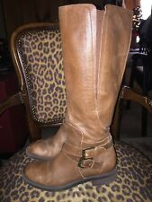 cc63b534c177 item 4 ENZO ANGIOLINI SPORTY WOMENS BROWN LEATHER SIDE ZIP KNEE HIGH RIDING  BOOTS 7.5 -ENZO ANGIOLINI SPORTY WOMENS BROWN LEATHER SIDE ZIP KNEE HIGH  RIDING ...