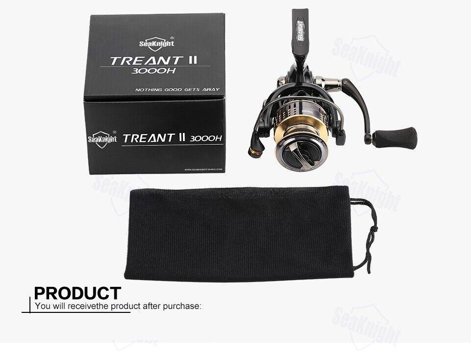 SeaKnight TREANT II 5.0 1 Fishing Reel 1000 4000 Spinning Reel 13KG Drag Power