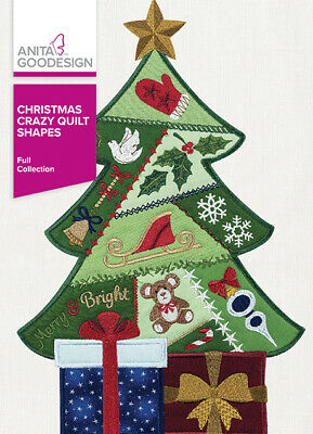 Anita Goodesign Christmas Crazy Quilt Blocks Embroidery Designs CD sealed