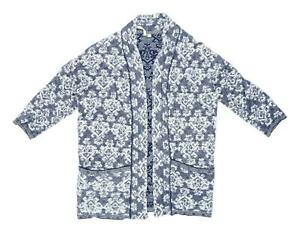 White-Stuff-Womens-Size-12-Cotton-Blend-Blue-Cardigan-Regular
