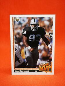 Upper Deck 1991 carte card football NFL NM+/M Raiders MVP #463 Greg Townsend