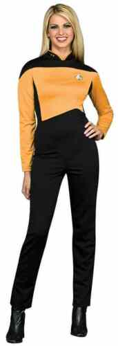 Operations Uniform Female Star Trek Next Generation Gold Halloween Adult Costume