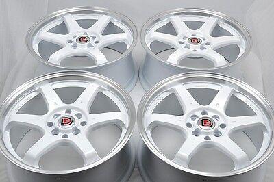 15 white Wheels Civic Accord Escort Cobalt Aveo Yaris Protege 4x100 4x114.3 Rims
