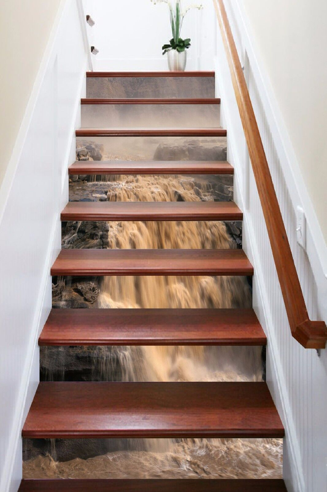 3D He Huang 5078 Stair Risers Decoration Photo Mural Vinyl Decal Wallpaper AU