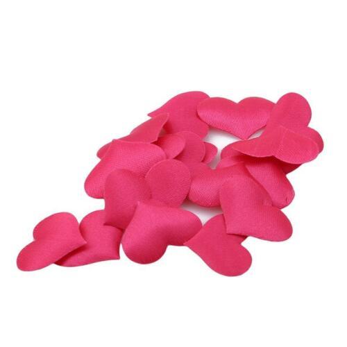 100Pcs Girls Heart Shaped Fabric Petal Wedding Supplies Table Bed Decor Basket G