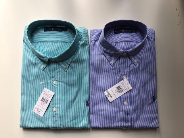 2ed4fbe31eb5 Polo Ralph Lauren Bengal Striped Cotton Poplin Shirt Long Sleeve ...