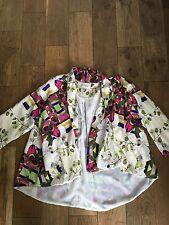 River Island Cream Floral Shacket/Jacket Size 6-12 New