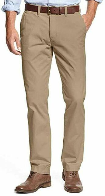 New Tommy Hilfiger Men/'s Tailored Fit Flat Front Chino Pants  VARIETY