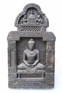 Buddha In Enlightenment Stone Statue Rare Gandhara Style Art Meditation Ebay