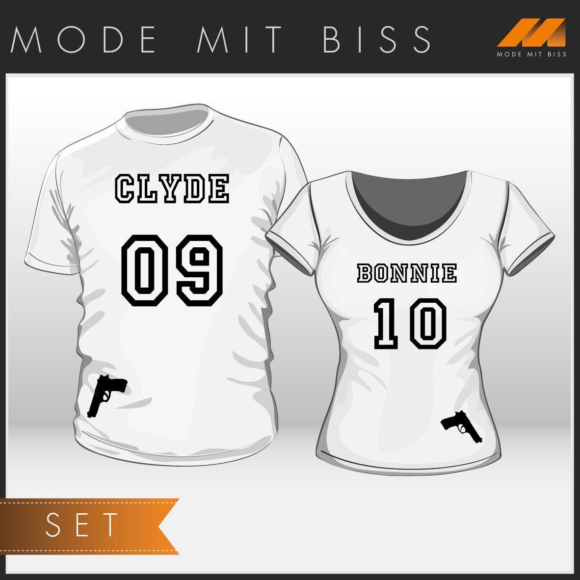 T-Shirt Set Set Set Bonnie & Clyde   Preiszugeständnisse    Qualitätskönigin  32384d