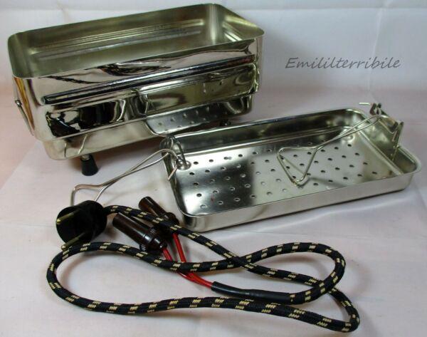 """Apparecchio Medicale Vintage """"luigi Oleotti"""" Sterilizzatore Voltaggio Universale"""
