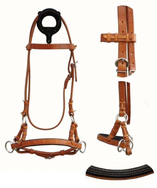 Side pull con unterlegtem nasenteil  gebisslos montar a caballo formación reithalfter  ventas al por mayor