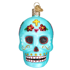 Old-World-Christmas-DAY-OF-THE-DEAD-26069-N-Glass-Ornament-w-OWC-Box