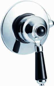 Details about St James Bathroom Traditional Concealed Shower Valve Chrome  Finish Black Handle