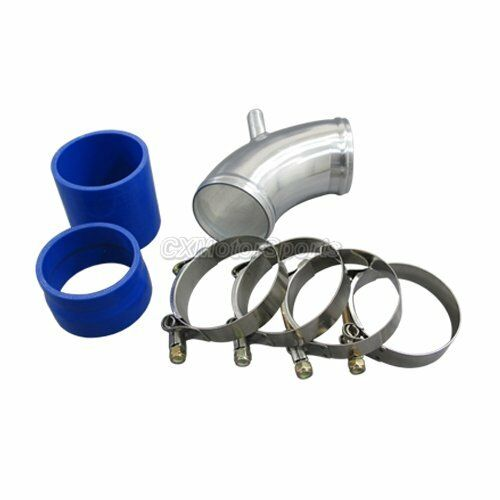 """CXR 2.75/"""" Cold Air intake Pipe FOR BMW E30 Turbo Throttle body pipe Blue Hose"""