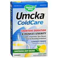 Nature's Way Umcka Cold Care Soothing Hot Drink Packets, Lemon 10 Ea (pack Of 2) on sale