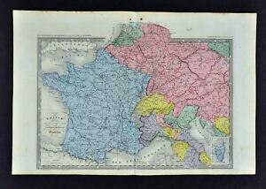 c-1860-Ansart-Map-France-1789-French-Revolution-Italy-Germany-Netherlands-Paris
