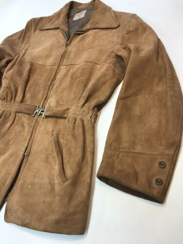 Vintage 1930s CHAMOISE SUEDE Leather Jacket  By Am