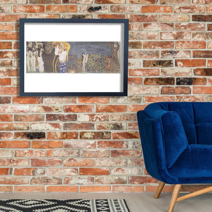 Gustav Klimt - Bethovenfries - Mittelwand Wall Art Poster Print