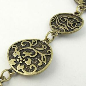 Vintage-Bronze-tone-Alloy-Necklace-Round-Link-Sweater-Chain-1M-1piece
