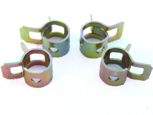 6mm Band Type Breather Pipe Fuel Hose Overflow Pipe Clips Pack Of 4 Zinc Plated