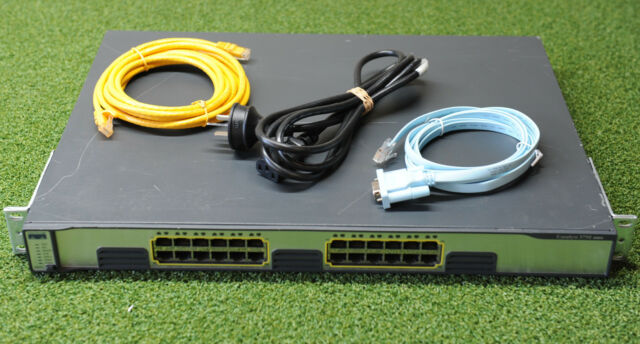 Cisco WS-C3750G-24T-E Catalyst 3750G 24xGE Stackable Switch - 1YrWtyTaxInv