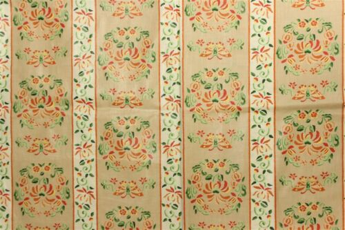 """Fab Vintage Gisele Glazed Chintz Fabric w 'Floral and Butterfly' Pattern"""