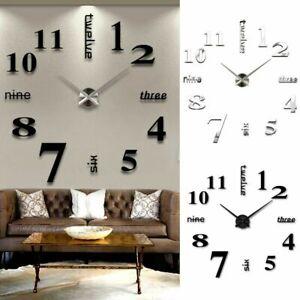 DIY-3D-Extra-Large-Numerals-Luxury-Mirror-Wall-Sticker-Clock-Home-Decor-Nice