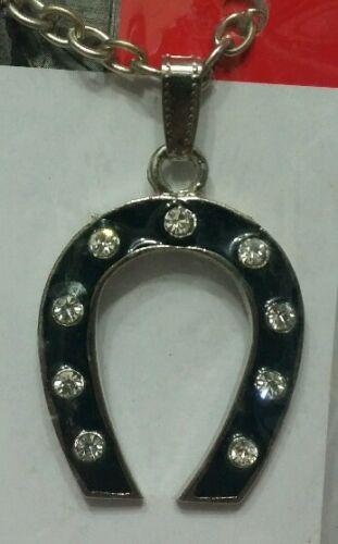 Scarpa da Horse Good Talismano Plated Luck Black Silver Protezione fw4qaZ4